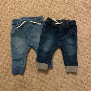 TWO Cat & Jack Baby Boy Jeans (Size 3-6 Months)